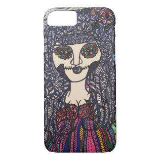 Zendoodle zombie colorful girl. iPhone 7 case