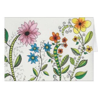 Zendoodley floral note card