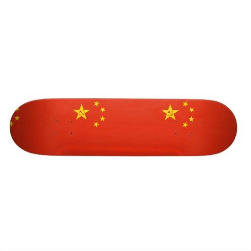 Zeng Liansong'S Proposal For The Prc flag Skateboard