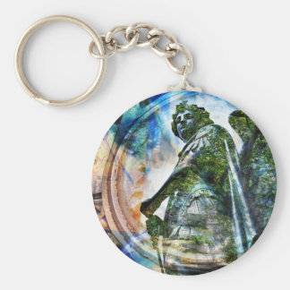 ZenKitten - Classical Roman Angel Key Ring