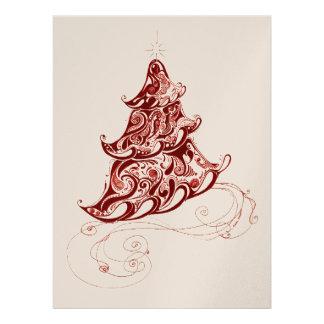 Zentangle Holiday Tree Personalized Invitation