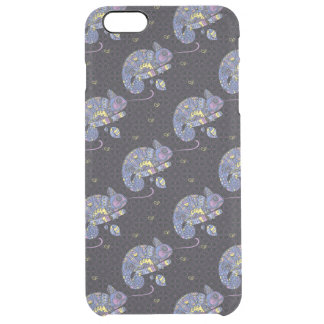 Zentangle Lizard Clear iPhone 6 Plus Case