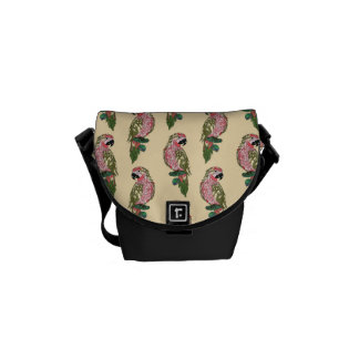 Zentangle Style Parrots Commuter Bags