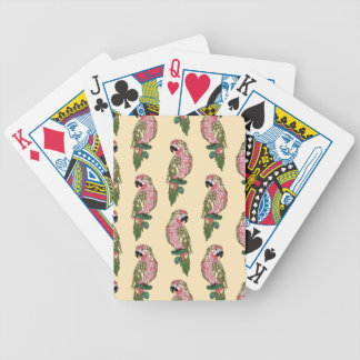 Zentangle Style Parrots Poker Deck