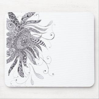 Zentangled Sunflower mousepad