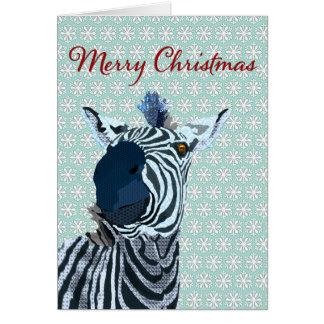 Zenya Blue & White Snowflake Christmas Greeting Greeting Card