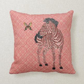 Zenya & Golddust Butterfly Red Ornate Mojo Pillow Cushions