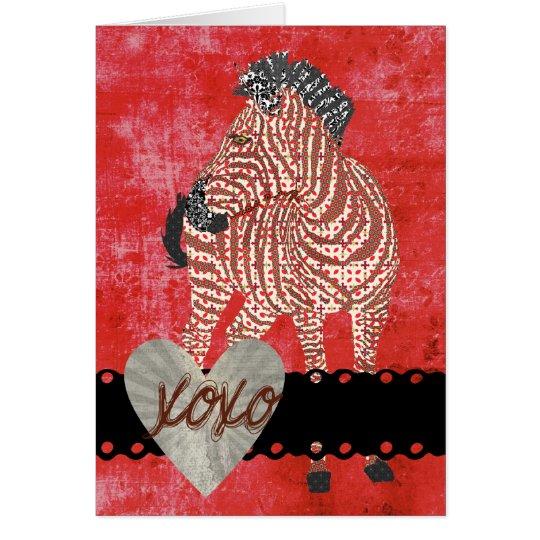 Zenya XOXO Retro  Valentine Card