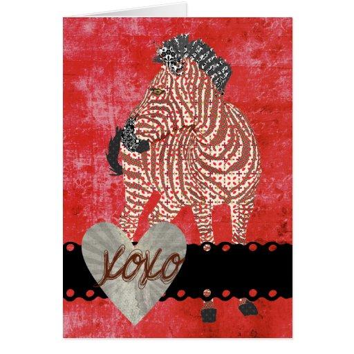 Zenya XOXO Retro  Valentine Greeting Card