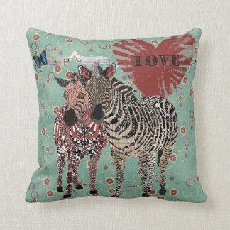 Zenya & Zeb Love Turqoise Floral  Mojo Pillow Cushion