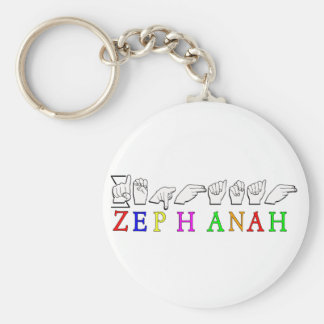 Zephanah   KEYCHAIN FINGERSPELLED ASL SIGN
