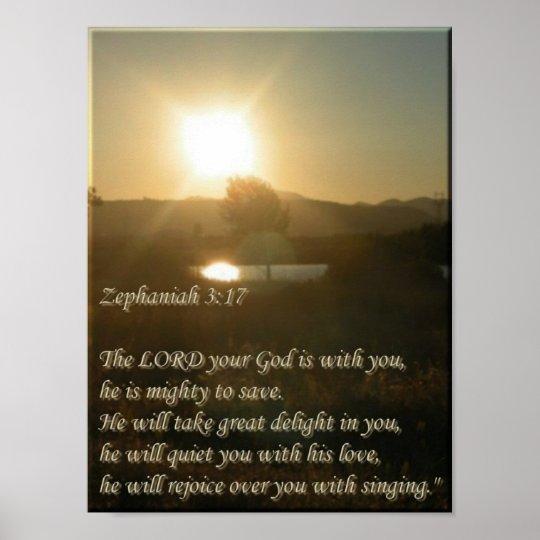 Zephaniah 3:17 poster