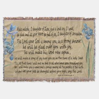 Zephaniah 3 Vellum Manuscript Scripture Throw