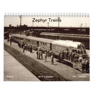 Zephry Trains Calendar