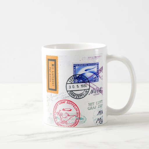 Zeppelin Adventure Travel Time Coffee Mugs