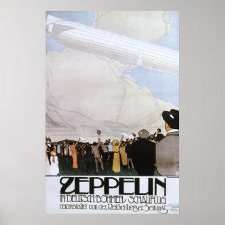 Zeppelin in Deutsch Bohmen Schauflug Poster