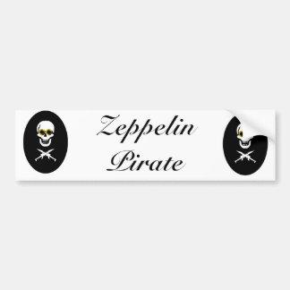 Zeppelin Pirate Bumper Sticker