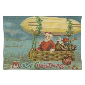Zeppelin Santa Vintage Victorian Funny Christmas Placemat