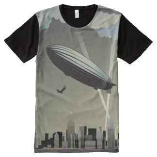Zeppelin Skyline All-Over Print T-Shirt