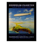 Zeppelin Trips ~ Over Sea and Land Posters