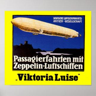 Zeppelin Viktoria Luise Poster