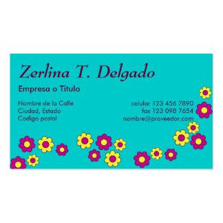 Zerlina de Flores Rosa Business Cards