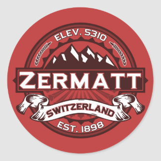 Zermatt Color Logo Classic Round Sticker