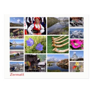 Zermatt multi-image postcard
