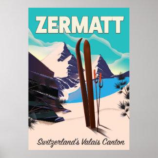 Zermatt Ski vacation poster