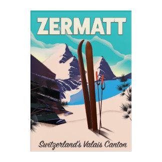 Zermatt Ski vacation poster Acrylic Wall Art