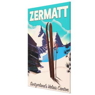 Zermatt Ski vacation poster Canvas Print