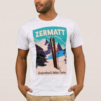 Zermatt Ski vacation poster T-Shirt
