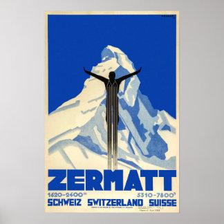 Zermatt, Switzerland,Ski Poster