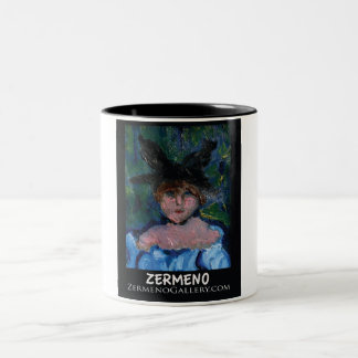 Zermeno Impressionist Girl on coffee mug