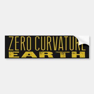 Zero Curvature Earth (Flat Earth) Bumper Sticker