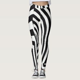 Zero Element Sexy Zebra Stripes Leggings