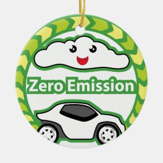 Zero Emission Round Ceramic Decoration