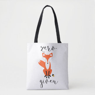Zero Fox Given and Polka Dots Tote Bag