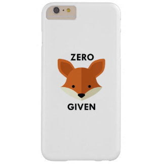 Zero Fox Given Barely There iPhone 6 Plus Case