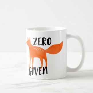 Zero Fox Given Basic White Mug