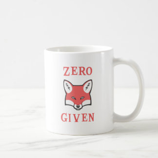 Zero (Fox) Given Basic White Mug