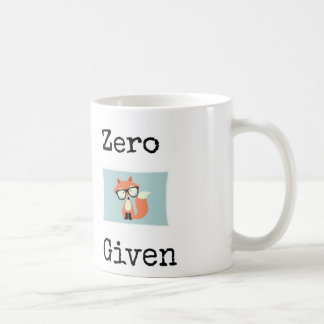 "Zero ""fox"" given coffee mug"