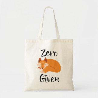 Zero Fox Given Coolest Attitude Tote Bag
