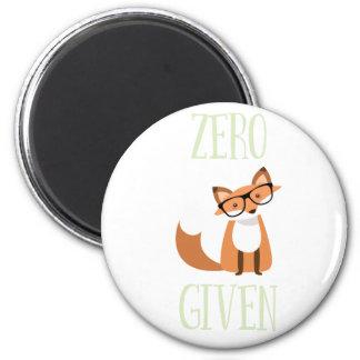 Zero Fox Given Funny Animal Fox Magnet
