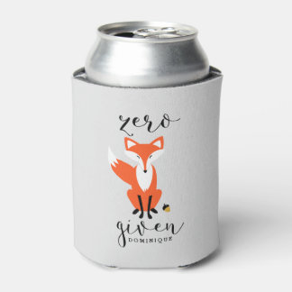 Zero Fox Given Funny Pun Personalised Can Cooler