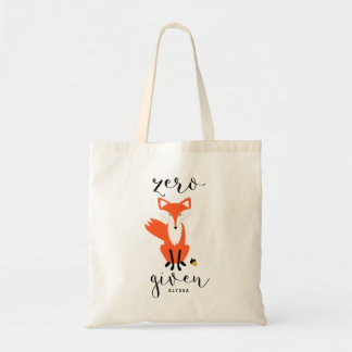 Zero Fox Given Funny Pun Personalized Tote Bag