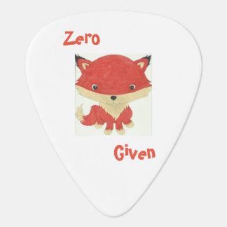 Zero Fox Given Guitar Pick