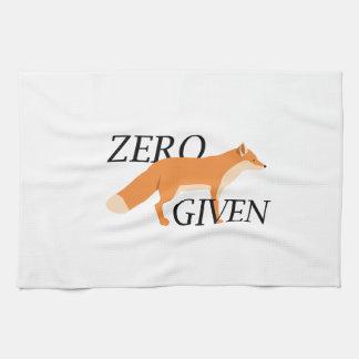 Zero Fox Given Kitchen Towels