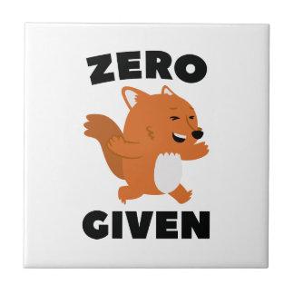 Zero Fox Given Tile