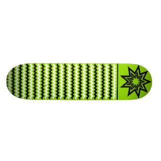 Zerodraline Green-Black-White Pattern Skateboard